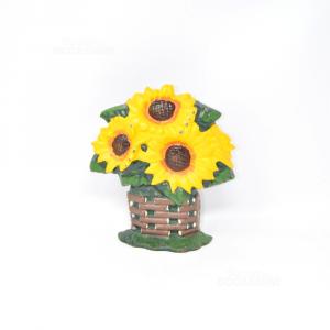 Doorholder In Cast Iron Sunflowers H 20 Cm