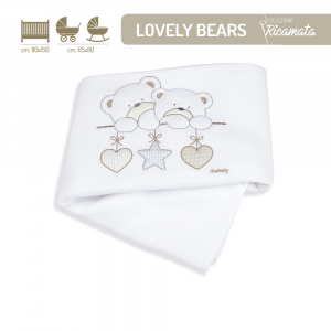 Copertina in Pile per lettino linea Lovely Bears by Italbaby