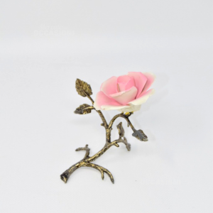 Object Pink In Ceramic With Base Metal Hand Made