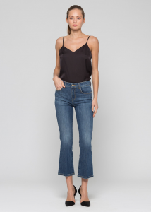 KOCCA NAKI Pantalone denim flare cropped leg, bottom up