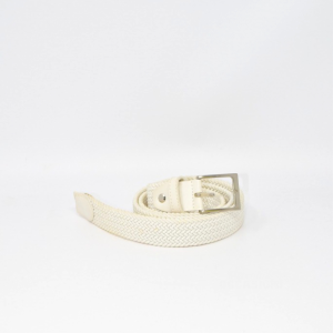 Belt In Genuine Leather White And Elastico
