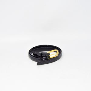 Belt In Real Python Black 115 Cm