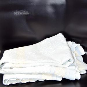 Copriletto Singolo Azzurro Bianco Beige 260x160 Cm
