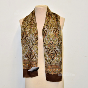 Scarf From Man Brown In Silk And Cotton