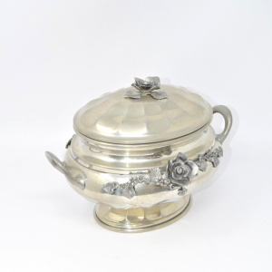Pewter Soup Bowl,height 20 Cm