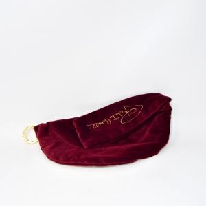 Clutch Bag In Velvet Red Roberto Horses 28x15 Cm