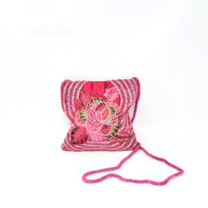 Handbag Hand Embroidered With Beads 17x17 Cm