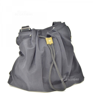 Bag Black Mandarina Duck In Fabric 43x26 Cm