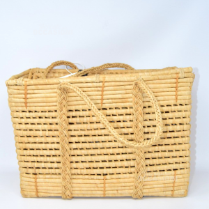 Straw Bag Vintage 20x28x44 Cm