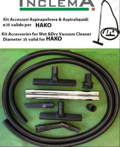 KIT tubo flessibile e Accessori Aspirapolvere & Aspiraliquidi ø35 (tubo diametro 32) valido per HAKO