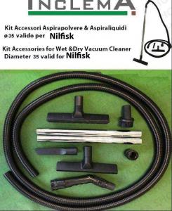 KIT Saugrohr und Zubehör Nass- und Trockensauger ø35 (rohrdurchmesser 32) gültig für NILFISK