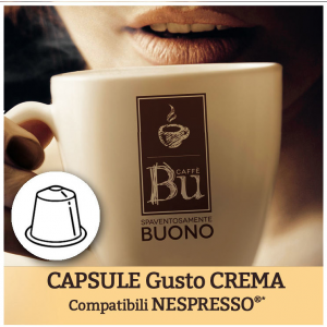 Caffè BU Kit 100 capsule miscela CREMA per macchine Nespresso