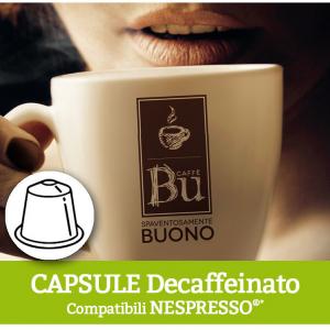 Caffè BU Kit 100 capsule miscela DEK per macchine Nespresso