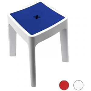 SGABELLO CONTENITORE MODELLO KEOPE METAFORM  Bianco-Blu