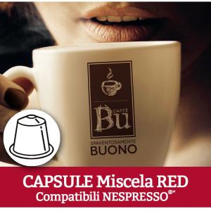 Caffè BU Kit 100 capsule miscela RED per macchine Nespresso