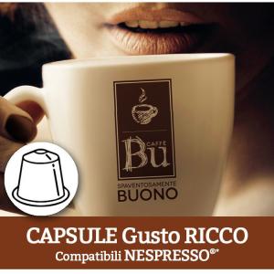 Caffè BU Kit 100 capsule miscela RICCO per macchine Nespresso