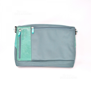 Bag Holder Documents Piquadro Green Oil In Inserts Leather 36x25x6cm