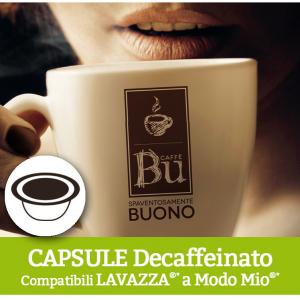 Caffè BU Kit 100 capsule miscela DEK per macchine Lavazza A Modo Mio