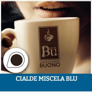 Caffè BU kit 100 cialde ESE diametro 44 mm compostabili miscela BLU