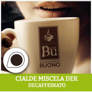 Caffè BU kit 100 cialde ESE diametro 44 mm compostabili miscela DEK