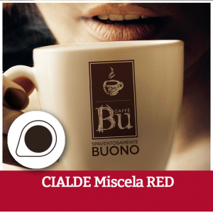 Caffè BU kit 100 cialde ESE diametro 44 mm compostabili miscela RED