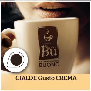 Caffè BU kit 100 cialde ESE diametro 44 mm miscela CREMA