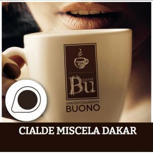 Caffè BU kit 100 cialde ESE diametro 44 mm miscela DAKAR
