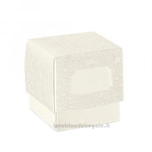 Scatola Harmony Bianca Fleur con tasca Varie Dimensioni - Scatole bomboniere