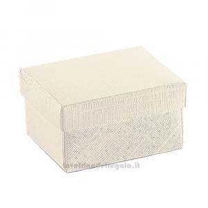 Scatola Seta Bianco con fondo e coperchio in Varie Dimensioni - Scatole bomboniere