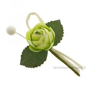 Rametto bocciolo Fiore artificiale Verde 9 cm - Decorazioni bomboniere