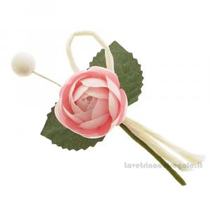 Rametto bocciolo Fiore artificiale Rosa 9 cm - Decorazioni bomboniere