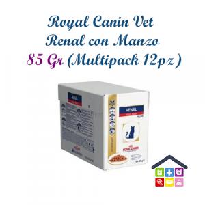 Royal Canin Gatto | Linea VET | Renal con Manzo - 12x85gr (bustina multipack)