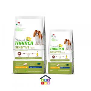 NATURAL TRAINER | LINEA SECCO CANE SENSITIVE PLUS | MINI SMALL & TOY ADULT con CAVALLO, RISO E OLIO / 2 Kg