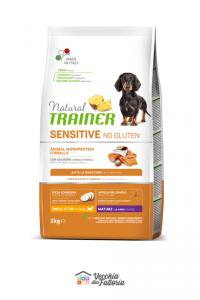 NATURAL TRAINER |Sensitive No Gluten | Small Mini Mature al Salmone / 2 Kg