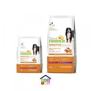 NATURAL TRAINER   LINEA SECCO CANE Sensitive No Gluten   Medium Maxi Salmone / 3 - 12 Kg