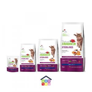 NATURAL TRAINER | LINEA SECCO GATTO - Sterilised Adult con Salmone / 0.3 kg 1.5 kg