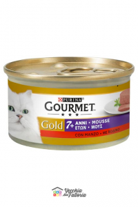 PURINA | GOURMET GOLD - Mousse 7+ / Gusto: MANZO - 85gr
