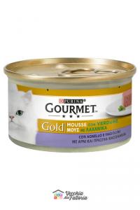 PURINA   GOURMET GOLD - Mousse / Gusto: Agnello e Verdure (Fagiolini) - 85gr