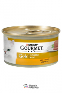 PURINA   GOURMET GOLD - Mousse / Gusto: Fegato - 85gr