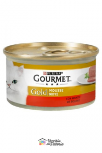 PURINA   GOURMET GOLD - Mousse / Gusto: Manzo - 85gr