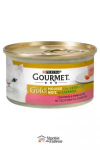 PURINA   GOURMET GOLD - MOUSSE / Gusto: Trota con Verdure (Pomodoro) - 85gr