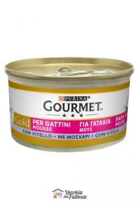 PURINA   GOURMET GOLD - MOUSSE GATTINI / Gusto: Vitello - 85gr