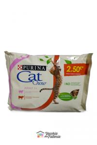 Purina   Cat Chow - Adulti 1+   Gusti Agnello + Manzo / Multipack 85gr x 4