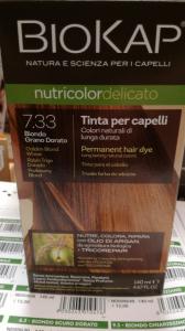 Biokap Nutricolor tinta per capelli 7.33 Biondo Grano Dorato