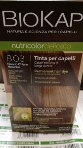 Biokap Nutricolor tinta per capelli 8.03 Biondo Chiaro Naturale