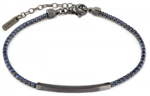 Jack & Co Bracciale Gents, Piastra Ip nero