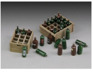 bottiglie di vino e casse