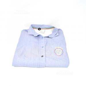Shirt Woman Aeronautics Military Light Blue Size L (dresses More Small)