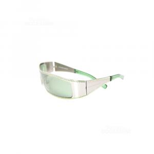 Sunglasses Alexander Mc Queen Green Amq 4022 / S 6lb2q 99-01 120 Made In Italy