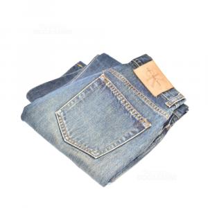 Jeans Donna Calvin Klein Tg 28 , Con Sfumature Marroni